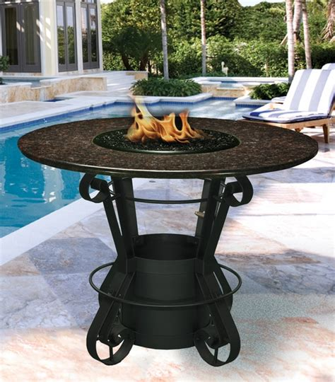 bar height patio table with fire pit california outdoor concepts 1030 solano bar height fire pit