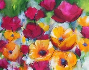 Blumen Bilder Gemalt : malerei sabine schramm originale zum wohlf hlen blumen ~ Orissabook.com Haus und Dekorationen