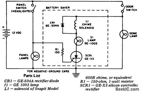 Automotive Battery Saver Power Supply Circuit