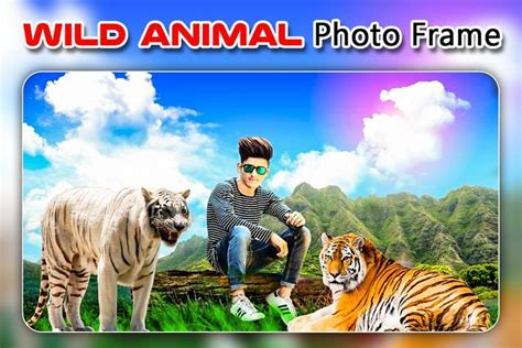 wild animal photo editor animal frame sticker