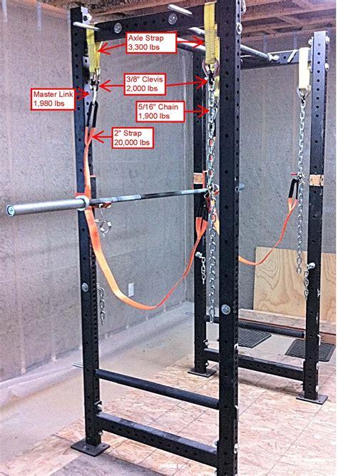 Squat Bench Press Rack by Power Rack Safety Straps Garage Gym Guy