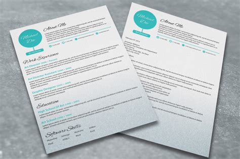 resume and cover letter set a dash of spearmint