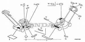 Honda Hrs216k2 Sdaa Lawn Mower  Usa  Vin  Mzbz