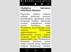 Free Xhosa Bible APK Download For Android GetJar