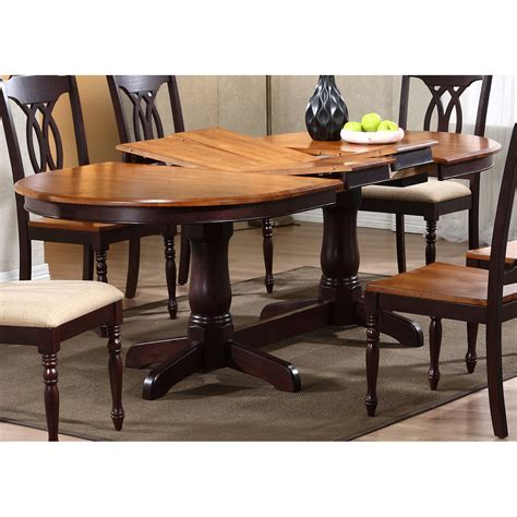oval dining tables for gatsby oval dining table butterfly leaf whiskey 7250