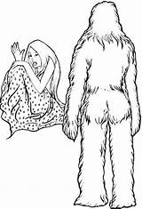 Yeti Coloring Drawing Pages Drawings Printable Template 1200px Templates Colorare Da Sketch Getdrawings 89kb sketch template