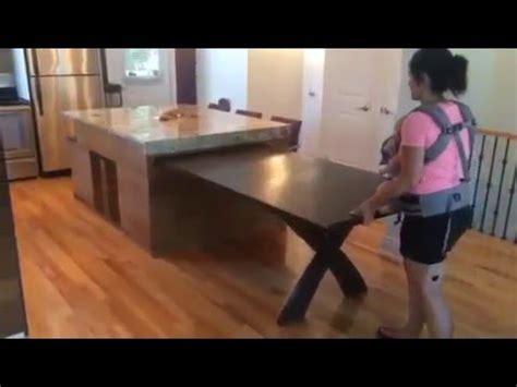table de cuisine ilot de cuisine table coulissante de retour