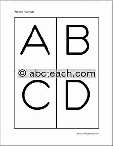 8 best images of printable alphabet flash cards uppercase With upper case letters flashcards