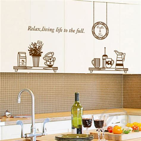 home decor wall posters kitchen wall decals removable wall sticker home decoration