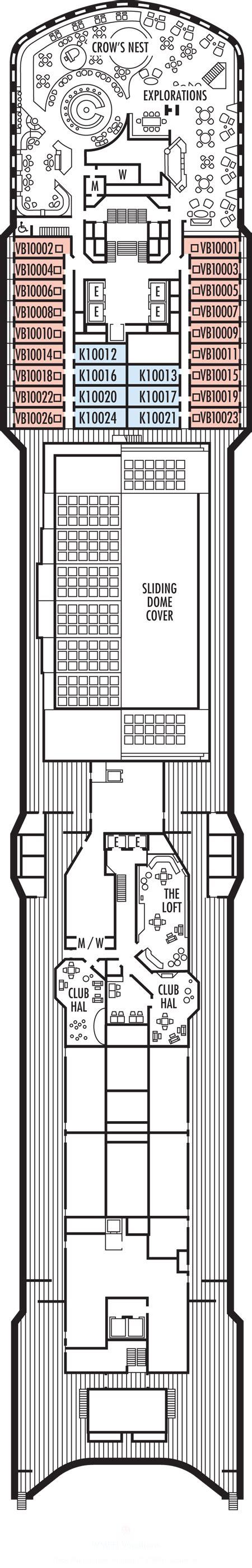 deck plans zuiderdam ship zuiderdam deck plans observation deck what s on