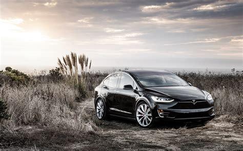 Tesla Car Wallpaper by Tesla Model X Black Electric Car Wallpaper Cars