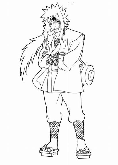 Coloring Jiraiya Naruto