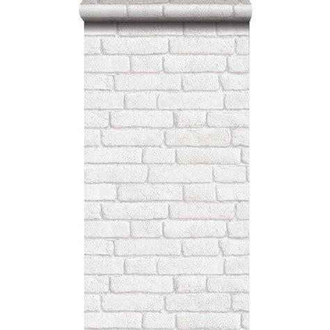 papier peint sur intiss 233 inspire briques anciennes blanc