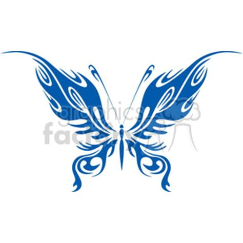 vinyle ready blue butterfly  flaming wings cartoon