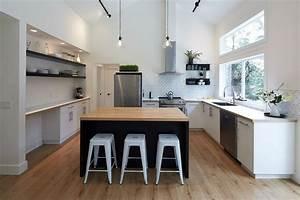 cuisine avec ilot central quelles sont les tendances With idee deco cuisine avec ilot cuisine gris