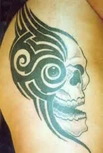 Simple Tribal Skull Tattoo Designs