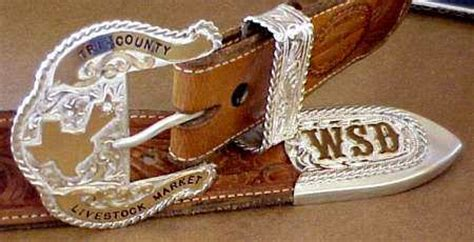 sterling  gold    pieces buckle sets  rick mccumber