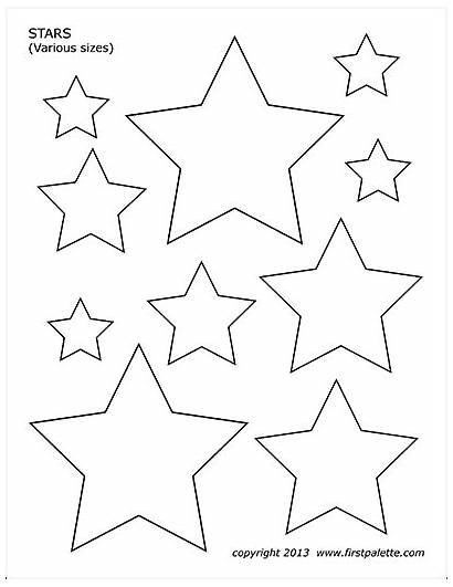 Printable Stars Coloring Pages Shapes Templates Stencils
