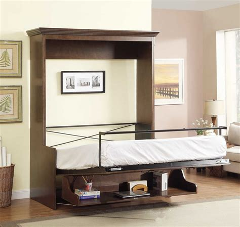 queen size desk bed 2 399 99 natanielle queen murphy bed with desk walnut