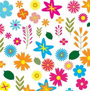 Clipart - Colorful Floral Pattern Background 3