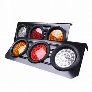Red Yellow White 12v Car Round Tail Lights Turn Signal