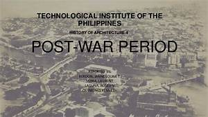 Philippine architecture ( post war period )