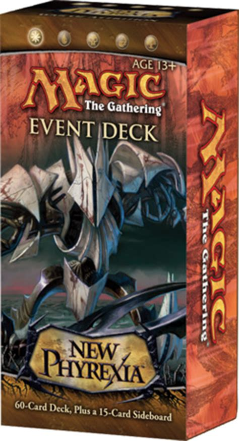 magic the gathering new phyrexia event deck new phyrexia event decks deck lists daily mtg magic