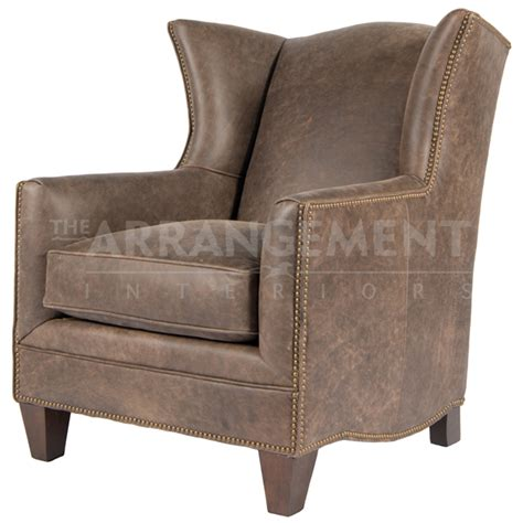 new hatton wingback leather chair rustic western