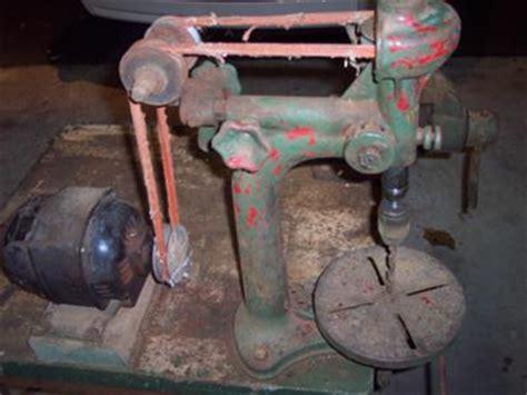 antique drill press unknown brand