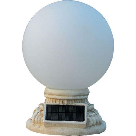 solar globe lights outdoor homebrite solar 9 light solar white outdoor led globe
