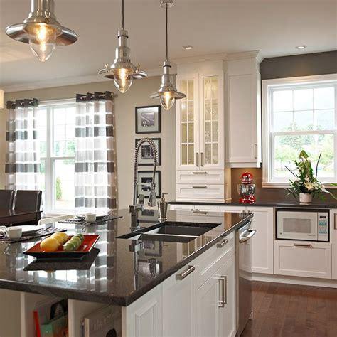 comptoir ilot cuisine ilot de cuisine avec comptoir de granit fonctionnel