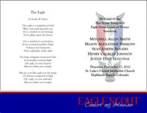 eagle scout ceremony programs templates eagle scout