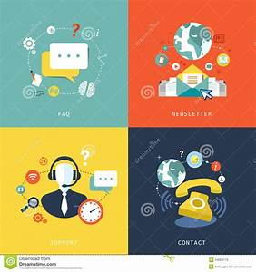 Flat Design For Customer Service Concept Stock Vector