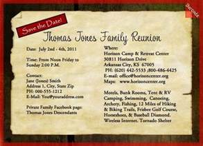 Save the Date Family Reunion Invitation Template