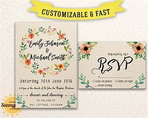 printable wedding invitation template download floral With free printable rustic wedding invitations templates downloads