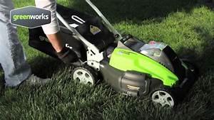 Robot Tondeuse Sans Fil Périmétrique : fr greenworks tools 45cm tondeuse sans fil 40v lithium ~ Dailycaller-alerts.com Idées de Décoration