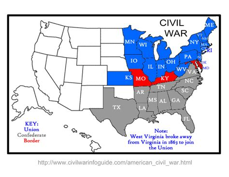 civil war stuff about the civil war map