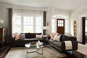 Charcoal Gray Sofas - Contemporary - living room