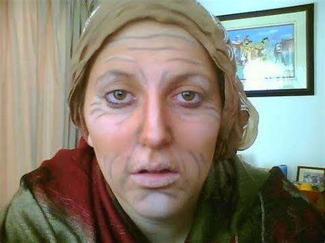 Old Lady Makeup For Halloween Youtube