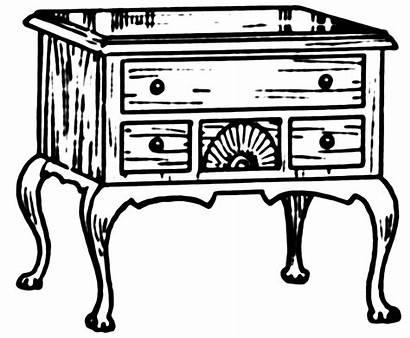 Clipart Lowboy Dresser Furniture Coloring Antique Chest