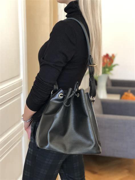 louis vuitton petit noe epi leather noir luxury bags