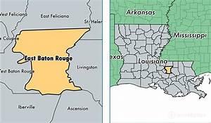 East Baton Rouge Parish, Louisiana / Map of East Baton ...