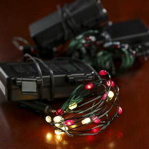 Battery Led Fairy Lights Outdoor Battery Operated Clear And Red Bulb Green Wire Led String