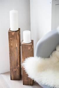 Ideen Für Kerzenständer : die besten 25 kerzenst nder holz ideen auf pinterest lackierte flaschen bottle cut und ~ Orissabook.com Haus und Dekorationen