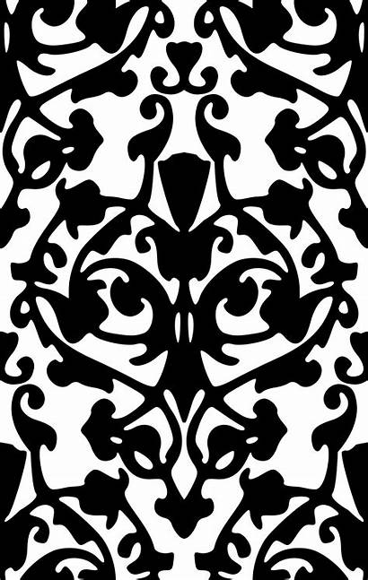 Damask Pattern Clipart Clip Botanical Purple Openclipart