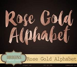 Clip art rose gold foil alphabet rose gold letters clip art for Rose gold letters