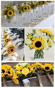 Tischdeko Mit Sonnenblumen : tischdeko zur hochzeit rustic country weddings ~ Lizthompson.info Haus und Dekorationen