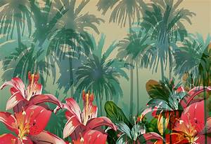 8 Best Images of Vintage Tropical Wallpaper - Tropical ...
