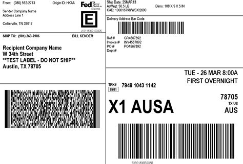 Fedex Label Template Word by Tsc Printers Best Prices Tsc Service Center Labels