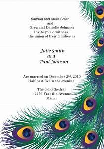 Peacock wedding invitation kit, print your own wedding ...